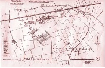 Killeagh Site showing proposed buildings - only some of which were completed