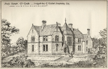 Old line drawing of Park House