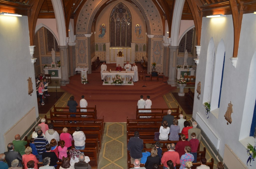 Fr. Broderick concelebrating at his retirement mass